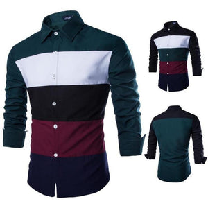 Men's Cotton Colorful Stripes Fashion Shirts