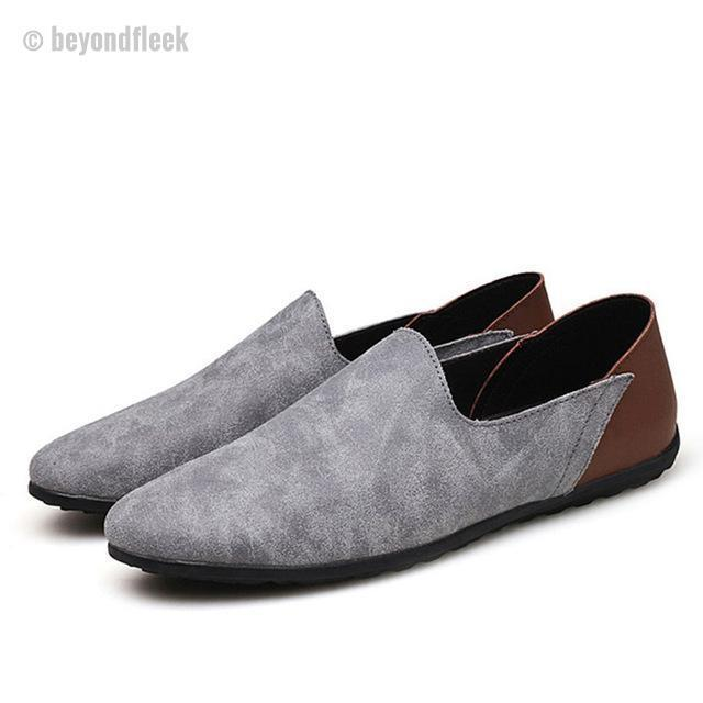 Big Size 38-48 Slip On Genuine Leather  Moccasins Men's Flats