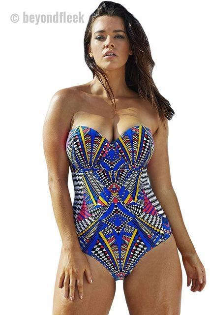 Tribal Print Vintage Push Up Monokini