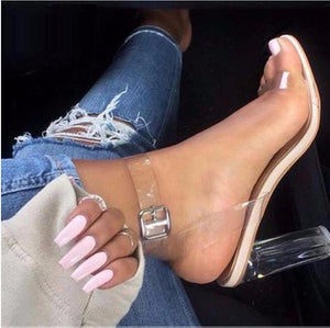 Women Jelly High Heel Sandals