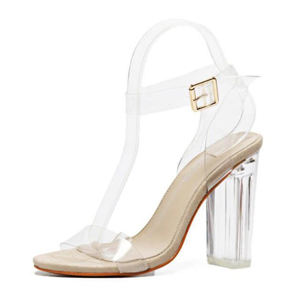2018 Women Jelly High Heel Sandals