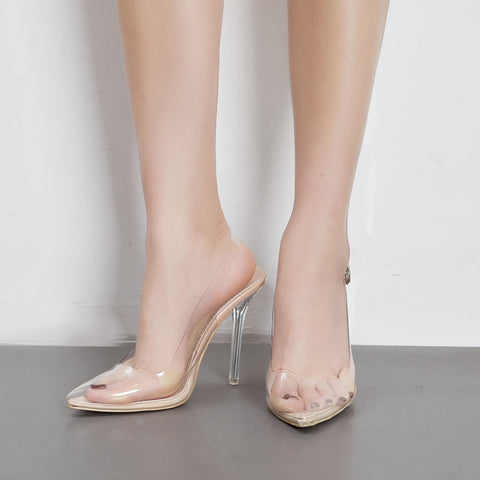 Pointed Toe Clear Transparent High Heel