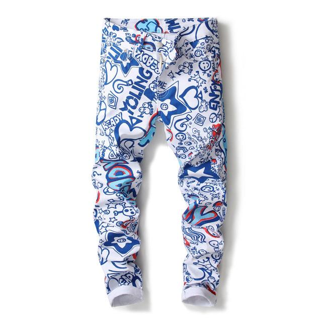 NEW! Colorful Grafitti Men Pants