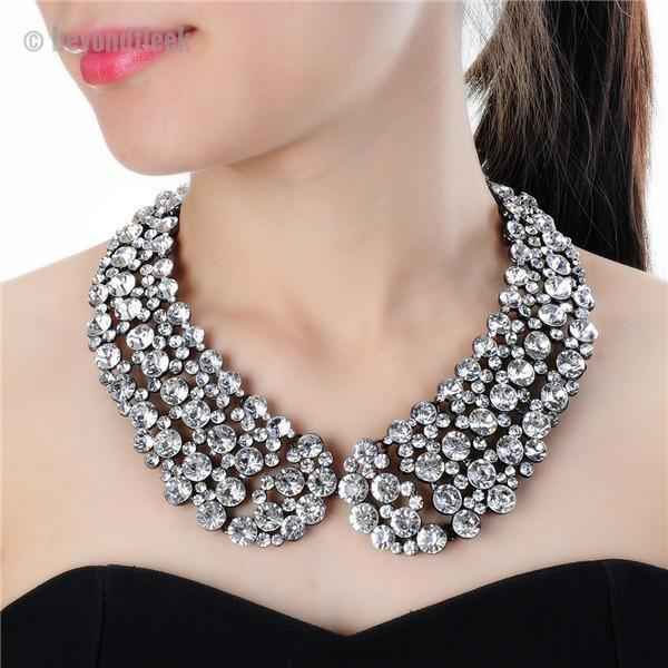 3 Colors Diamond Chain Necklace Jewelry