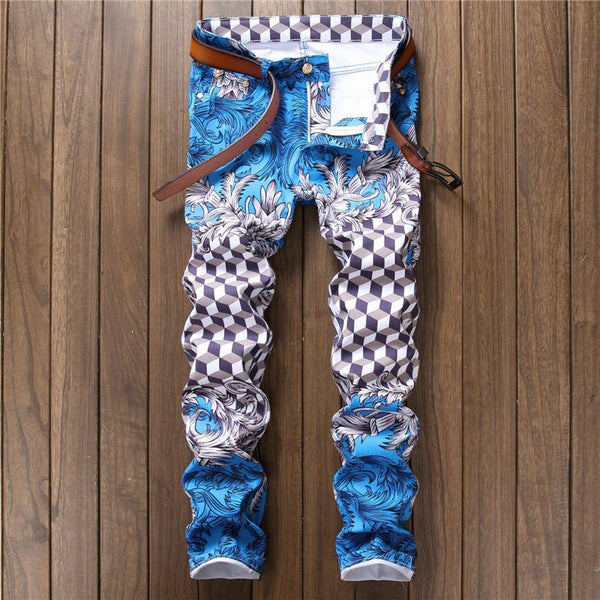 Fashion Designer Light Blue Slim Fit Skinny Jeans