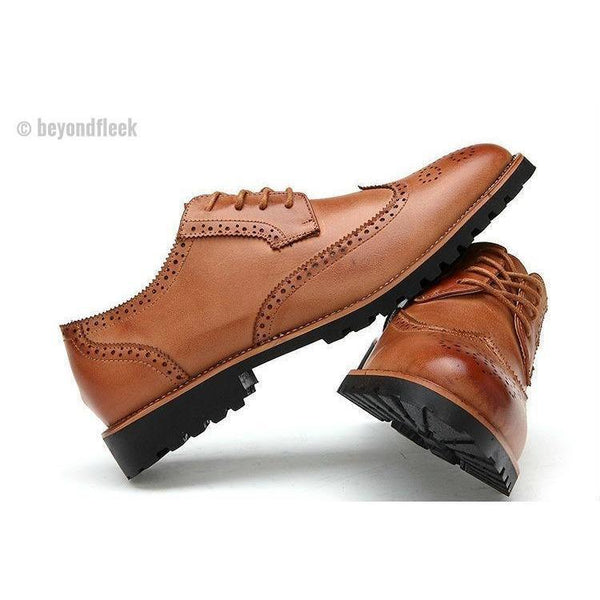 New Arrival  Vintage Leather Men's Business Formal Brogue Shoes