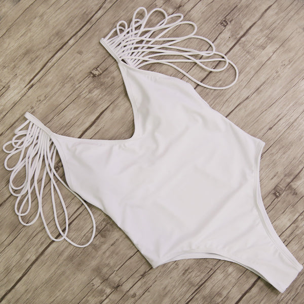 2018 Sexy Bandage Vintage Backless Monokini