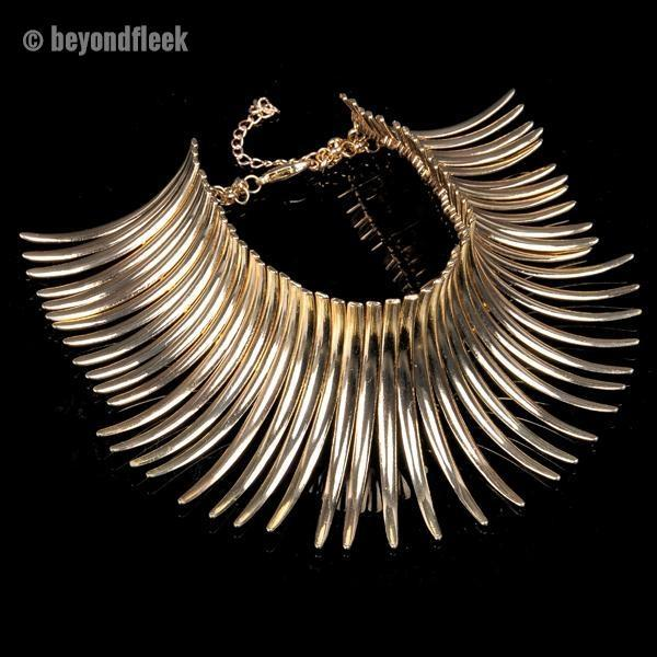 Unique Spike Chunky Choker Necklace