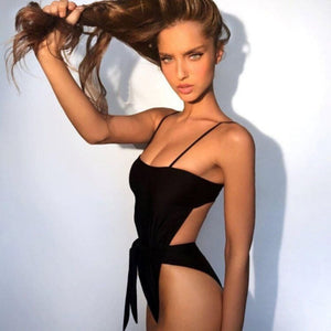 2019 Sexy One Piece Halter Push Up Swimsuit