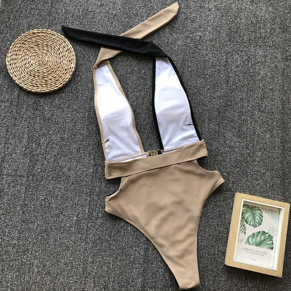 Splice Buckle One Piece Bikini