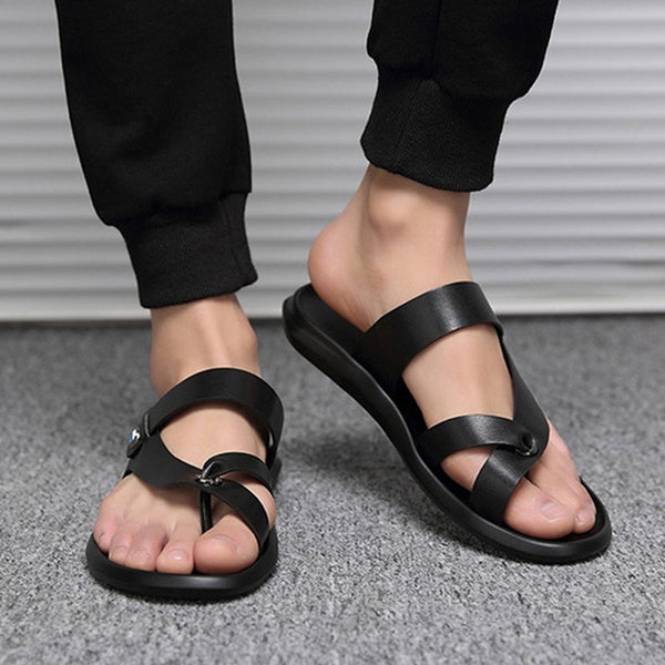 Leather Men Fashion Beach Sandals Fashion