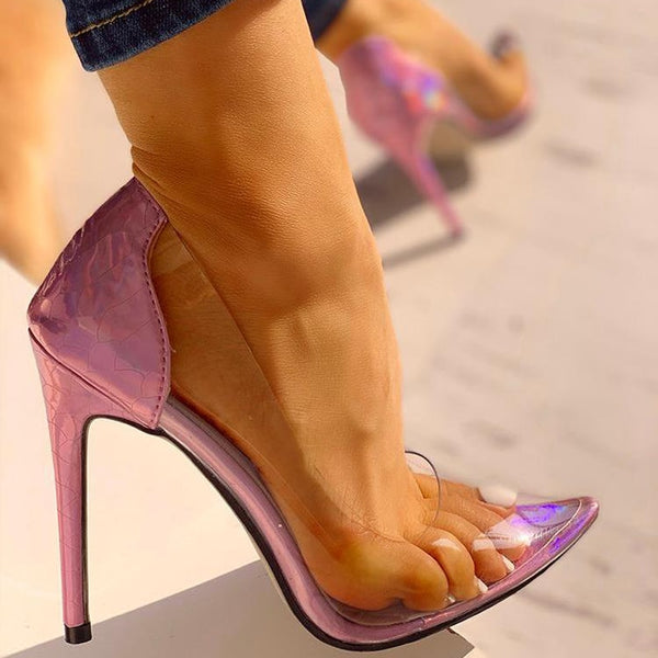 Sexy Transparent Party Heels