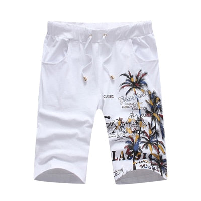 Coconut Island Printing Shorts Set for Men
