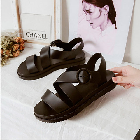 Leather Platform Beach Shoes