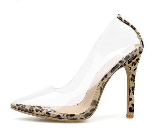 New & Sexy PVC Transparent  Pumps