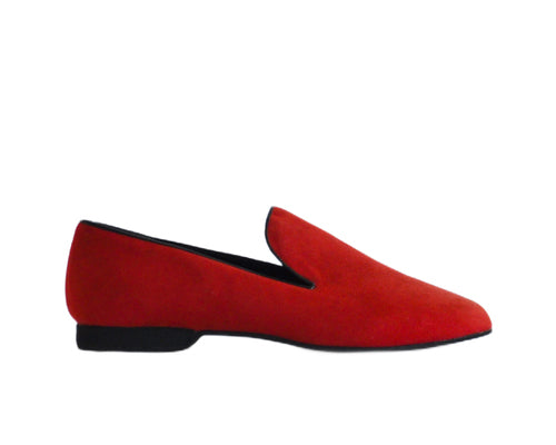 637 Mocassino Red Suede