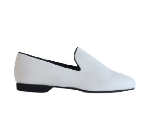 637 Mocassino White Leather