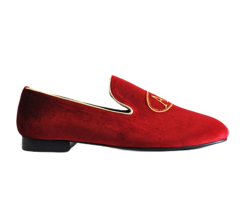 637 Mocassino Red Velvet AA