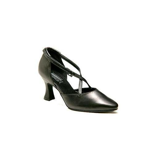 Black closed dance shoes for women (511 PELLE NERO)