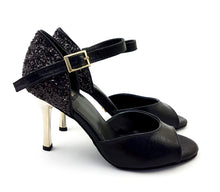 Laden Sie das Bild in den Galerie-Viewer, Alya Dance Shoes Black Venom / Glitter AV01-P01