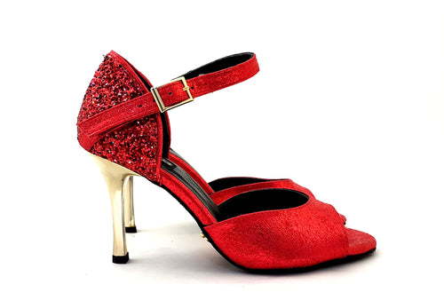 Alya Dance Shoes Red Venom / Glitter AV06-P06