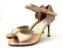 Laden Sie das Bild in den Galerie-Viewer, Alya Dance Shoes Rose Gold Venom / Glitter AV07-P07