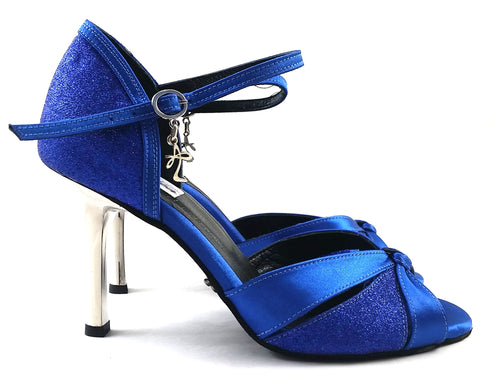 Carina Dance Shoes Blue Satin CG04-S04