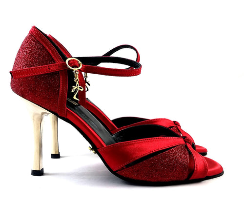 Carina Dance Shoes Red Satin CG06-S06