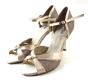 Carina Dance Shoes Flesh Satin CG02-S02