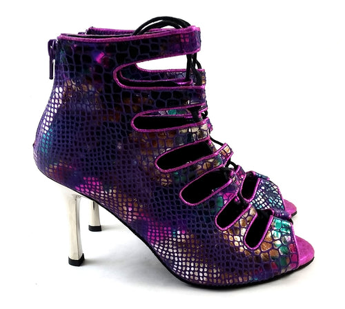 Electra Dance Shoes Purple Piton Multi E-PM05