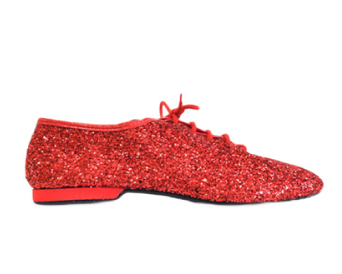 Rote Jazz-Tanzschuhe (Modell 550 Red Cristal)