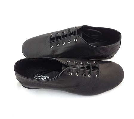 Jazz Dance Shoes Black Leather J-S04
