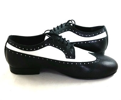 Capella Dance Shoes Black-White Leather CL01-L10