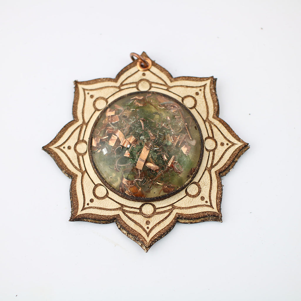 LotusBloom Sacred Geometry Orgone Pendant with Flower of Life