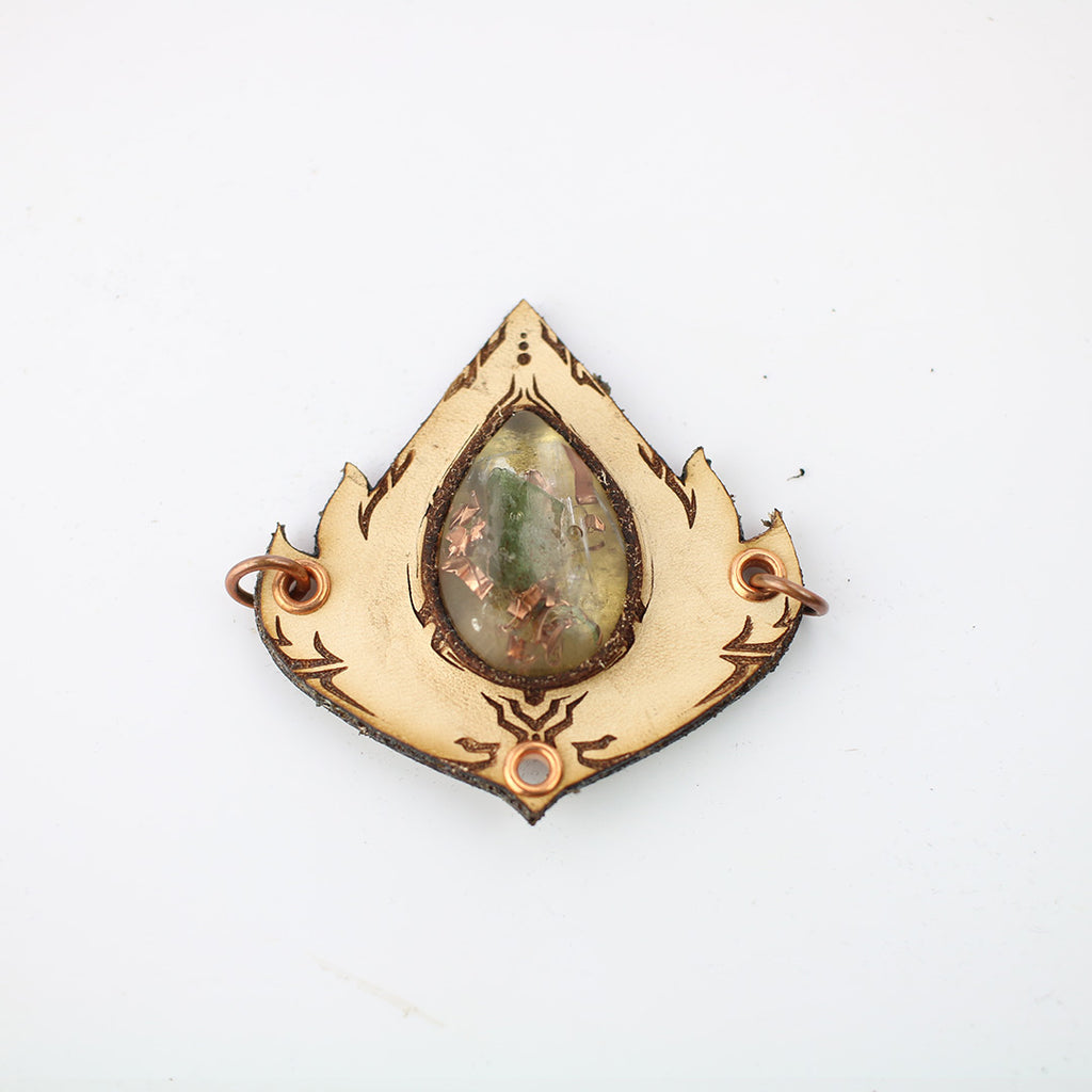 Lotus Drips Tribal Fairy Orgone Pendant