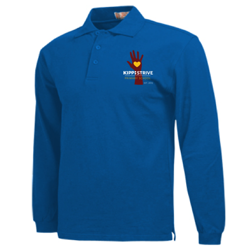 4th Grade Polo (long sleeve) - blue