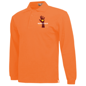 1st Grade Polo (long sleeve) - orange