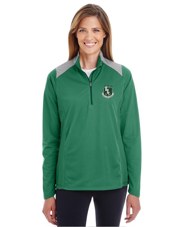 Ladies 1/4 Zip Pullover Color Block