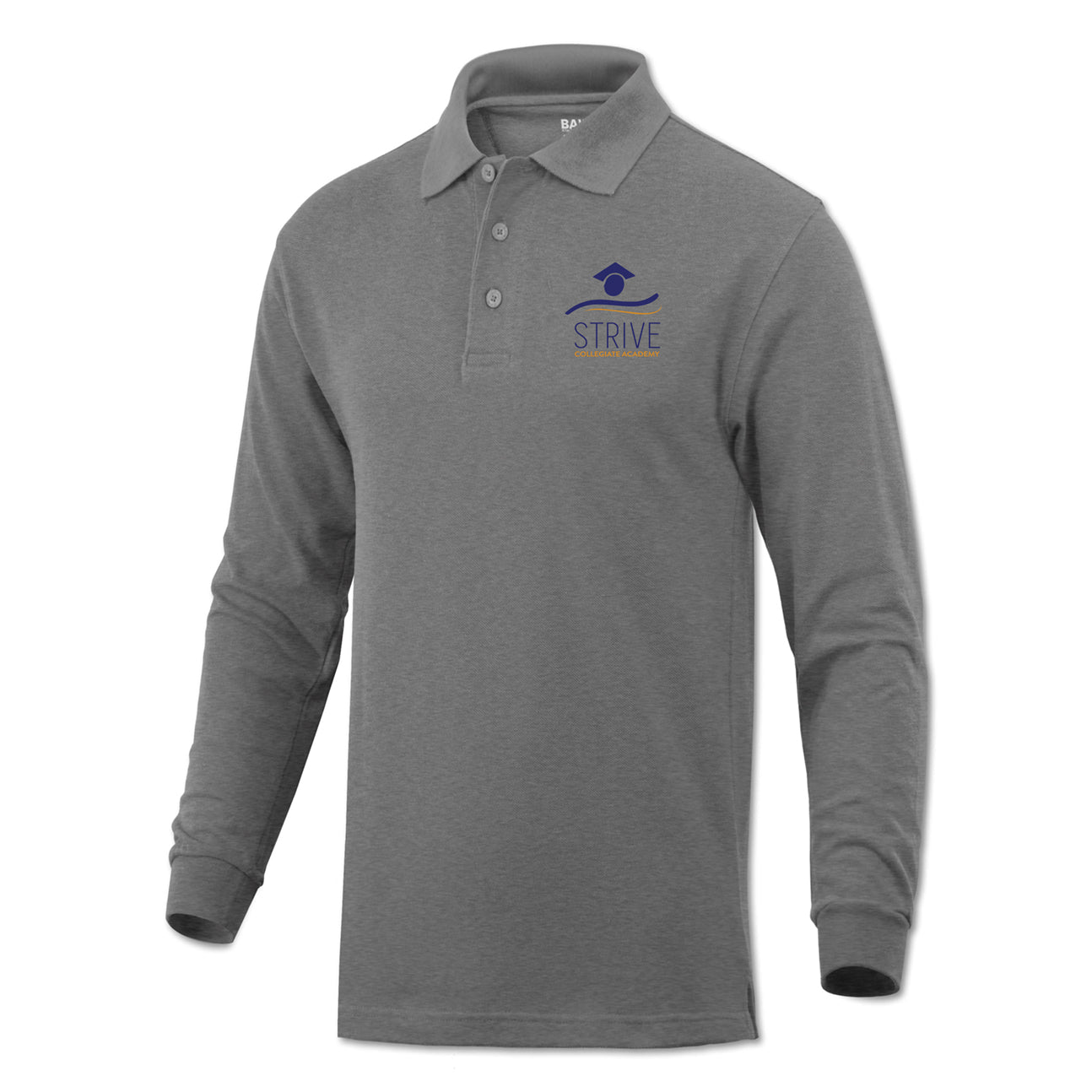 6th Grade Polo (long sleeve) - Grey