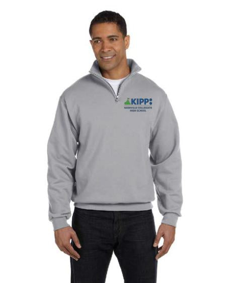 ¼ Zip Gray Sweatshirt Adult