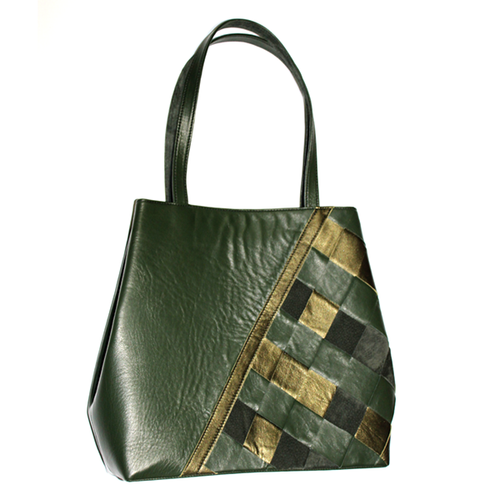 Leather Tote Olive green