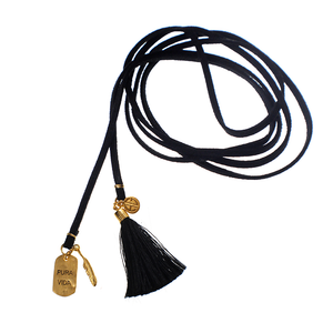 Long Leather Cord with Charms.