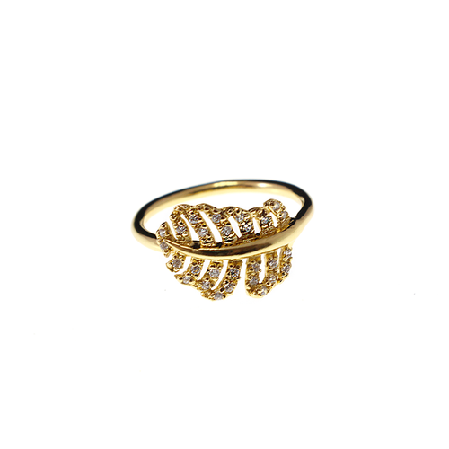 Stylish Golden Leaf Ring