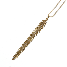 Load image into Gallery viewer, Gold Fern necklace