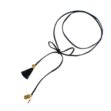 Load image into Gallery viewer, Long Leather Cord with Charms.