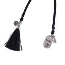 Load image into Gallery viewer, Long Leather Cord with Charms