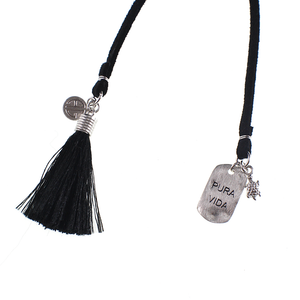 Long Leather Cord with Charms