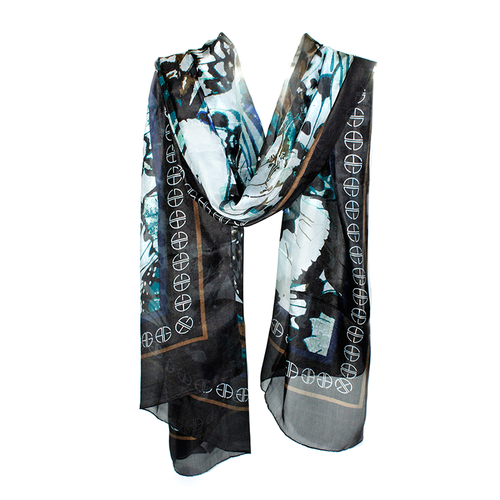 Diaphanous Silk Scarf