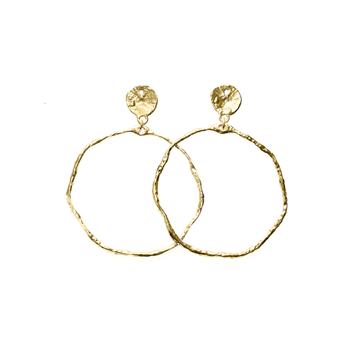 Sand Dollar Hoop Earrings