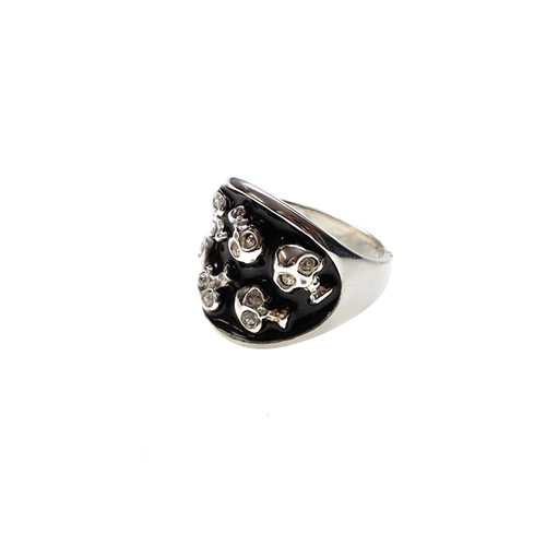 Cute Rebel Mini Skulls Ring